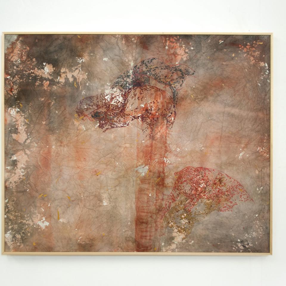 Nembo, 2020, tecnica mista su tela, 90 x 110 cm 2Courtesy the artist and Galleria Continua